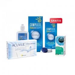 ACUVUE OASYS 6 szt. + płyn Complete RevitaLens 120 ml + krople Blink Contacts + płyn Complete 60 ml GRATIS