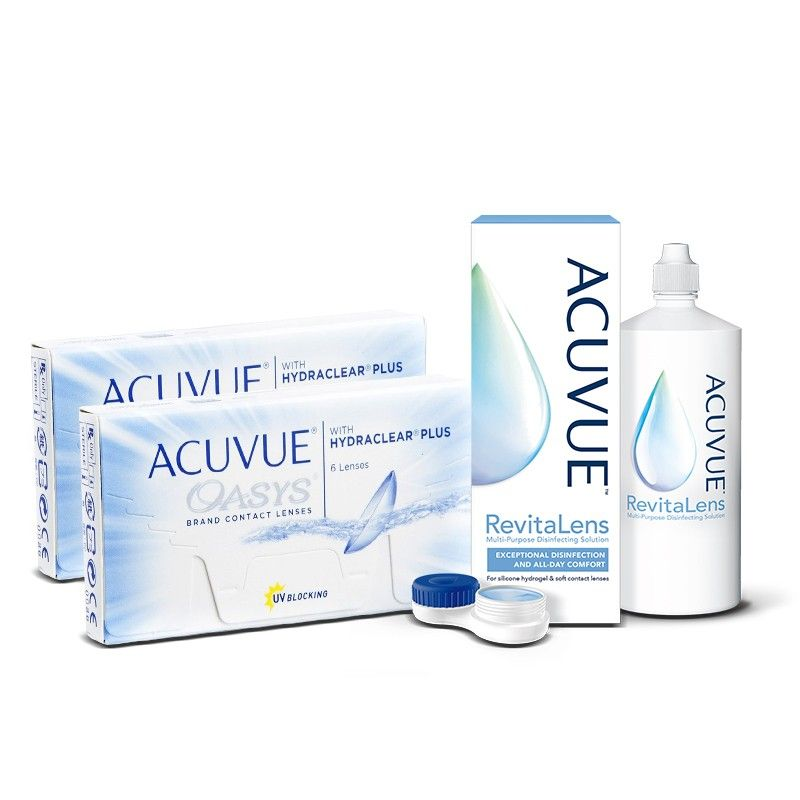 Zestaw 2 x ACUVUE® OASYS + płyn ACUVUE™ RevitaLens 360 ml
