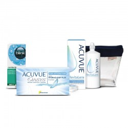 Acuvue Oasys for Astigmatism 6 szt. + Blink Contacts 10 ml + Acuvue RevitaLens 60 ml + kosmetyczka