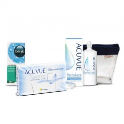 Acuvue Oasys 6 szt. + Blink Contacts 10 ml + Acuvue RevitaLens 60 ml + kosmetyczka