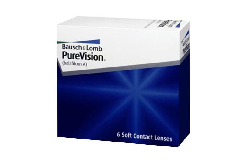 To zdjęcie przedstawia silikonowo-hydrożelowe soczewki miesięczne PureVision BC 8.6